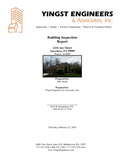 two story building inspection report