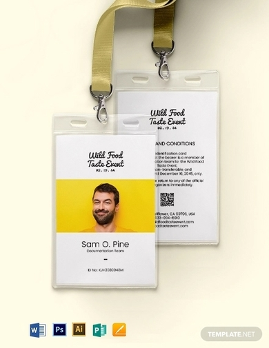 unique event id card template 1
