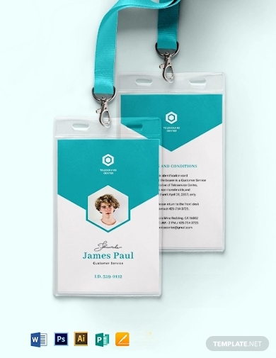 vertical corporate id card