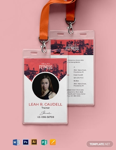 vertical gym id card