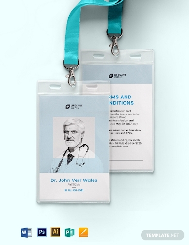 vertical medical id card