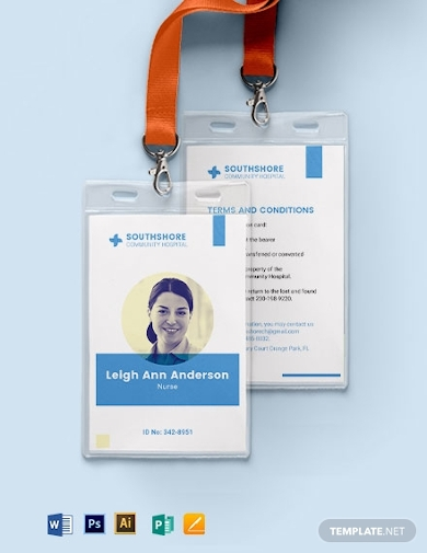 vertical nurse id card