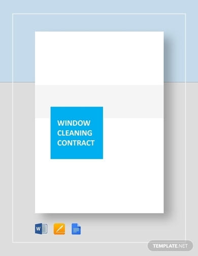 window commerical cleaning contract