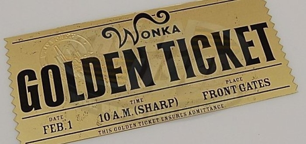 willy wonkas golden ticket
