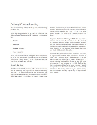 3d value investing example