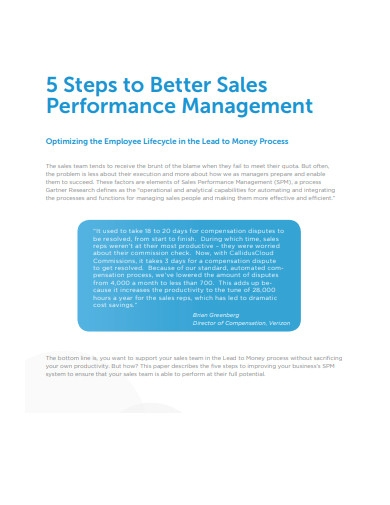 5 steps to better sales performance management
