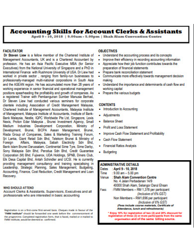 accounting skills for account clerks