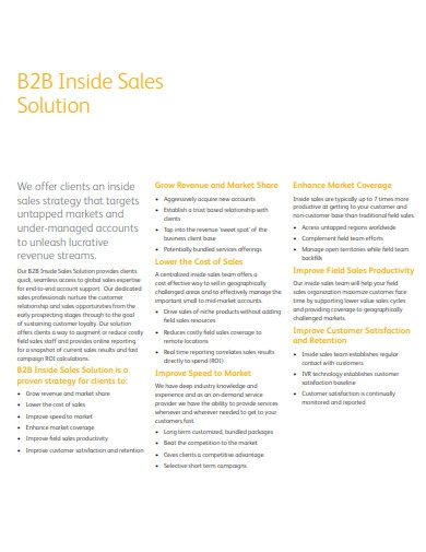 b2b inside sales solution