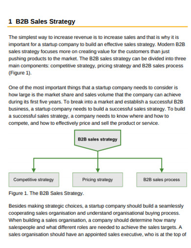 basic b2b sales strategy example