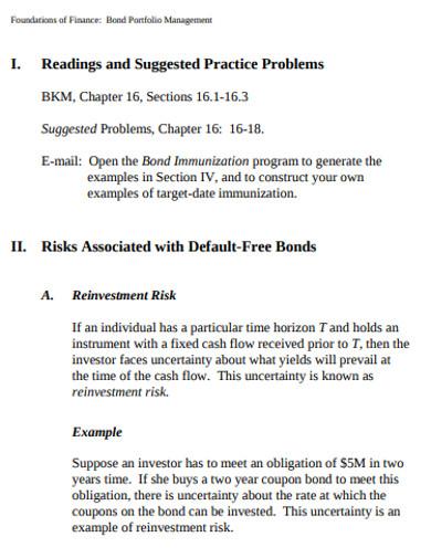 bond portfolio management