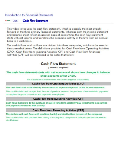 cash flow financial statement example