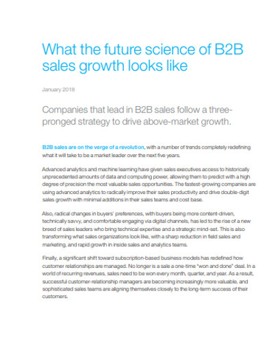 company b2b sales strategy example
