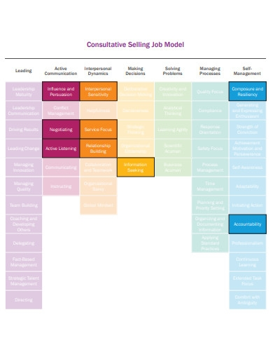 consultative selling job model
