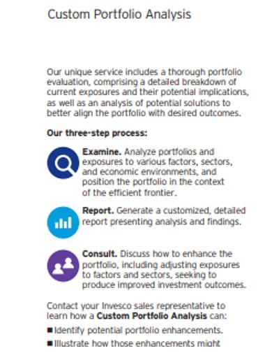 coustom portfolio analysis example