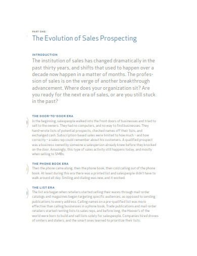 evolution of sales prospecting