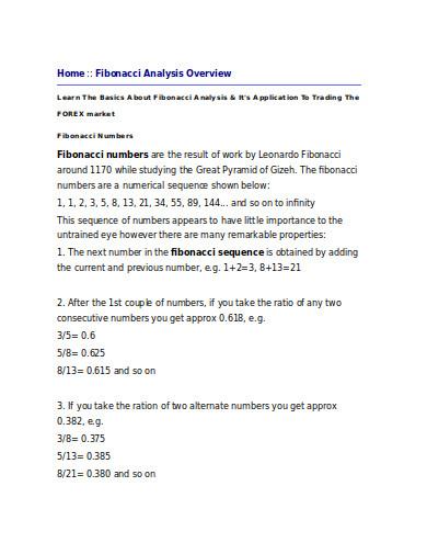 fibonacci retracement analysis example