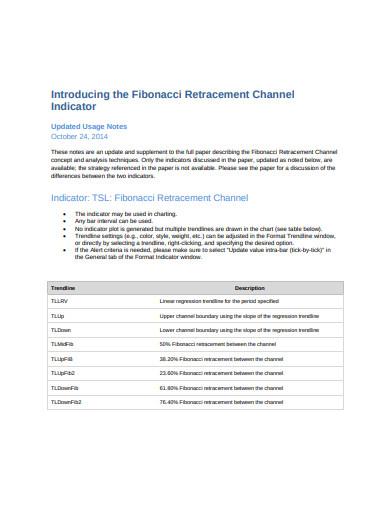 fibonacci retracement channel indicator