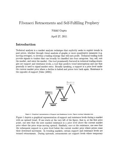 fibonacci retracements and self fulfilling prophecy