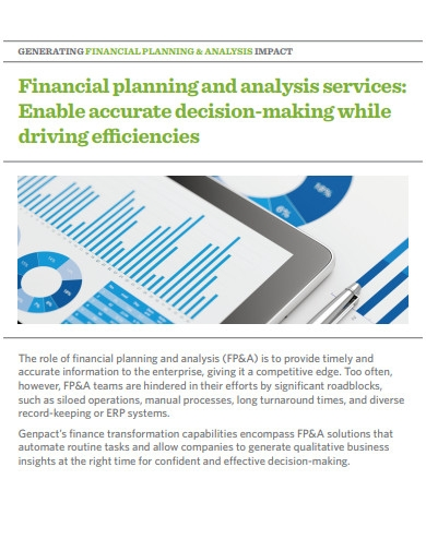 financial planning and analysis services