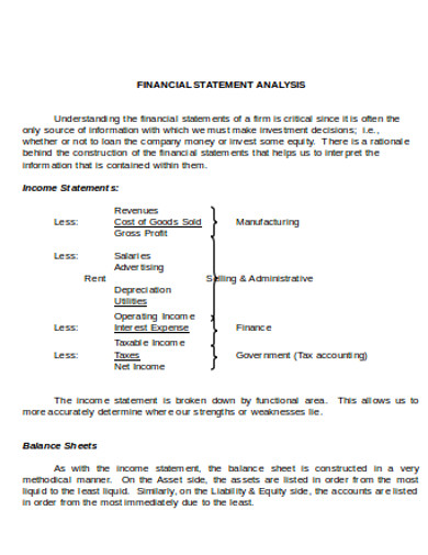 financial statement analysis in doc