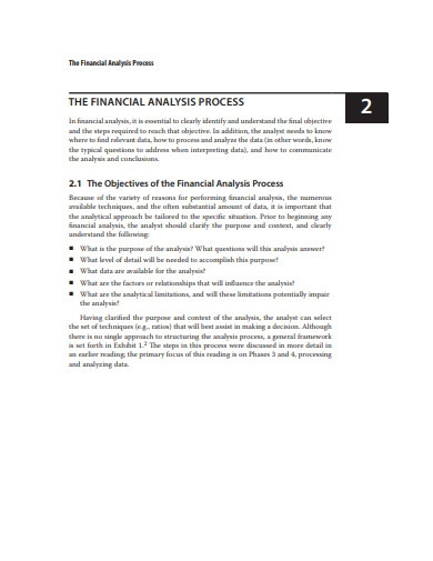 financial statements process example