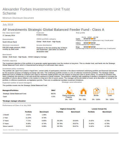 global balanced investment strategy example