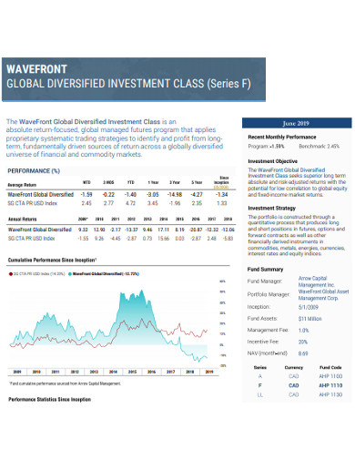 global diversified investment example