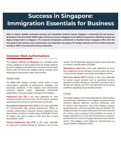 immigration essentials for business success