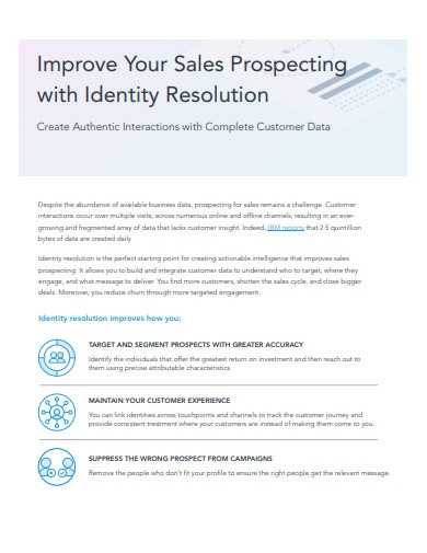 improve your sales prospecting with identity resolution