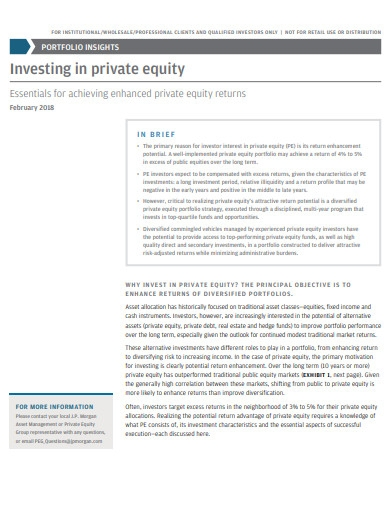 investing in private equality