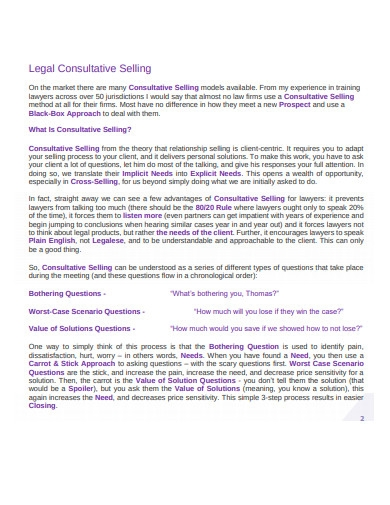 legal consultative selling