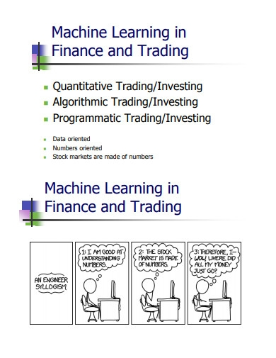 machine learning in finance and trading