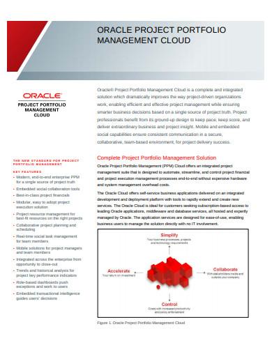 oracle project portfolio management cloud