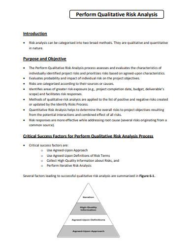 perform qualitative risk analysis