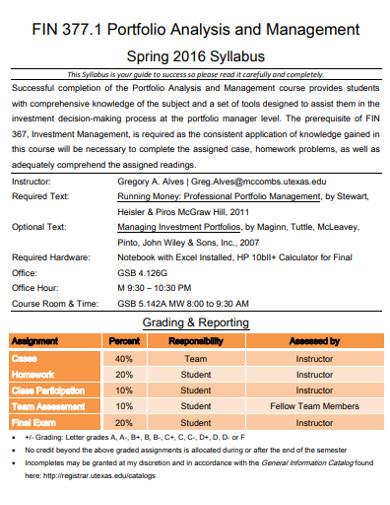portfolio analysis and management