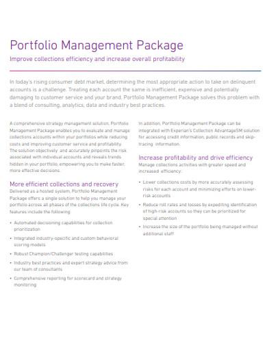 portfolio management package