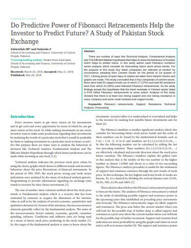 predictive power of fibonacci retracements help the investor