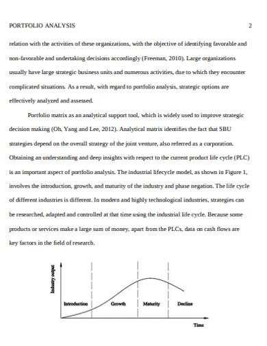 printable portffolio analysis example