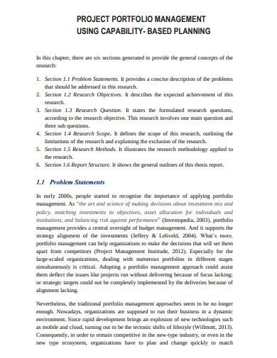 project portfolio management capability