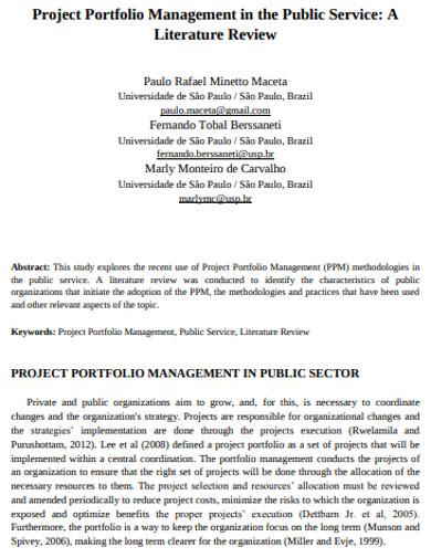 public project portfolio management