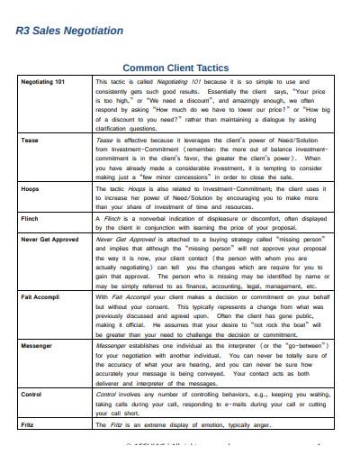 r3 sales negotiation common client tactics