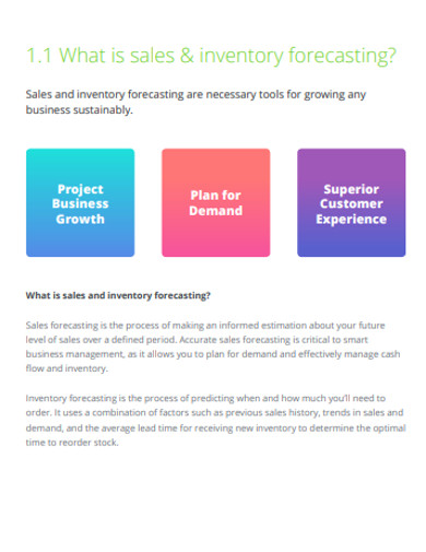 sales inventory and forecasting