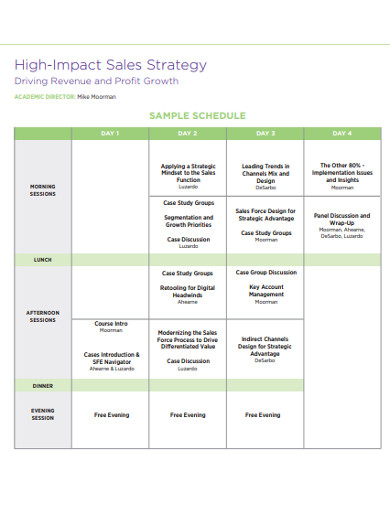 sample b2b sales strategy