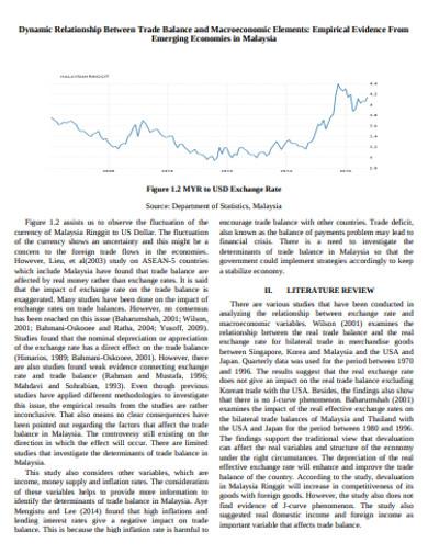 standard trade balance example