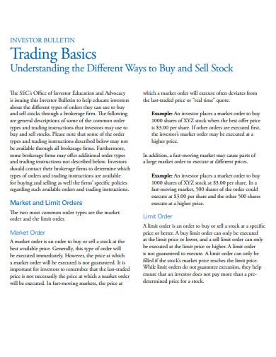 trading basics example