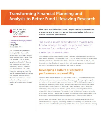 transforming financial planning and analysis to better fund