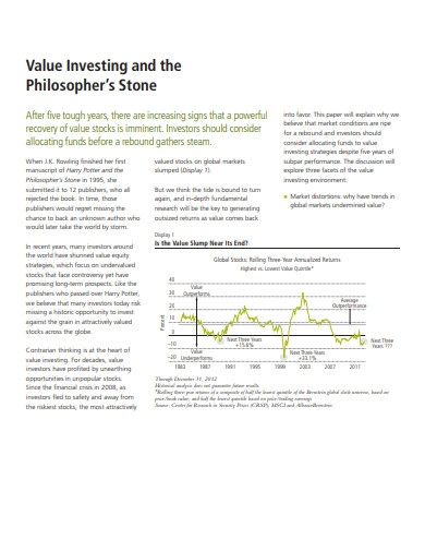 value investing and philosphers stone