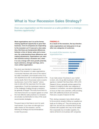 what is your recession sales strategy