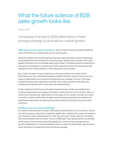 what the future science of b2b sales growth