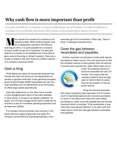 why cash flows is more important than profit